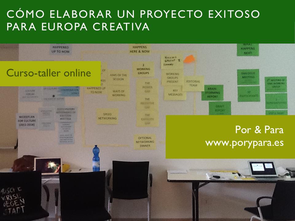 Cómo elaborar proyecto cultural Europa Creativa - www.porypara.es